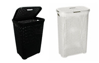 Large Woven Laundry Bin Basket Washing Clothes Toys Accessory Storage Hamper 60L