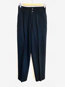 Issey Miyake Size S (8) Black High Waist Wool Pants Made Japan Luxury Designer