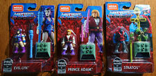 NEW MEGA CONSTRUX MASTERS OF THE UNIVERSE FIGURES EVIL-LYN, PRINCE ADAM, STRATOS