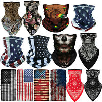 Neck Gaiter Face Bandana Scarf for Motorcycle Cycling Riding Running Headbands