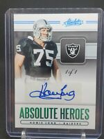 2020 Panini Absolute Heroes Howie Long 1 of 1 Auto