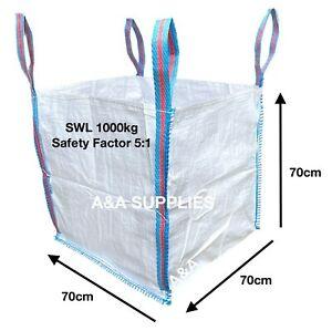 1/2 TON 500kg BAG RUBBLE BULK BAGS BUILDERS GARDEN WASTE JUMBO HALF TONNE SACKS