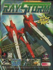 Vtg. 1997 Playstation PS1 RAYSTORM Ray Storm  video game magazine print ad page