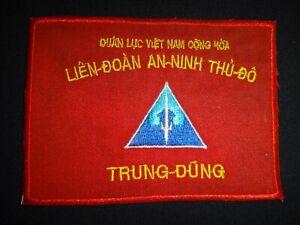 """Vietnam War ARVN Capital SECURITY ALLIANCE """"TRUNG DUNG"""" Patch"""