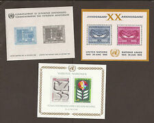 United Nations 1960-80 Miniature sheets x 3 (MNH) 4 x scans