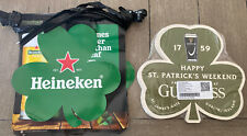 New Heineken St Patrick Day pennant Stringers & 25 Double Sided Guinness Clovers