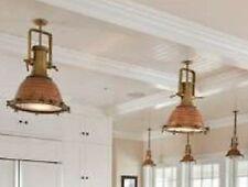 Prestigiosa lampada navale originale faro rame ottone New Port stile marina