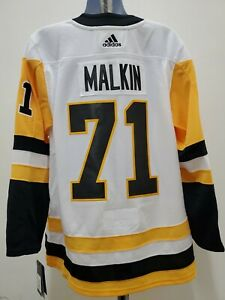 New Pittsburgh Penguins Adidas Mens MEDIUM jersey Evgeni Malkin sz 50 white #71