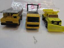 MATCHBOX  LOT OF 3 LOOSE FORD CARGO TRUCK DUMP TRUCK 1989 1990 MACAU BASE