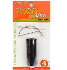 Hair weft extension tissage fil aiguilles combo noir c l i forme ensemble 4 pièces