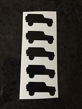 "X5 .5""X1""Jeep JK Silhouette Decals Wheels Window Rubicon Sahara Sport Wrangler"