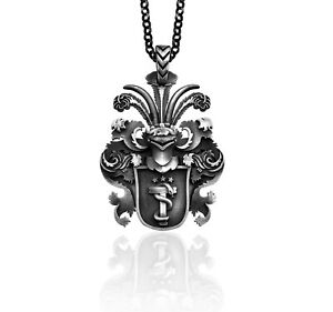 Family Crest Pendant Coat of Arms Necklace Family Crest Nedallion Gift For Man