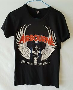 Airbourne T-shirt No Guts No Glory. Flying Skull. Size L