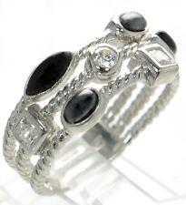 Joseph Esposito Solid 925 Sterling Silver Multi-row Ring Sz-11 '