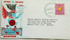 Australia 1966 Illustrated Boeing Jet First Flight Cover To Mexico