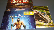 Set of 3 Loot Crate Movie Posters - Aquaman, Jurassic World, & Gremlins