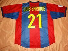 RARE Barcelona #21 LUIS ENRIQUE XL shirt jersey HOME camiseta 1998 2000 nike 98