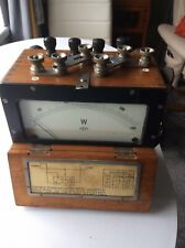 Vintage Portable Dynamometer Wattmeter W Record