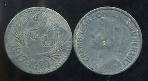 CHAMBRE DE COMMERCE DE L'HERAULT  25 centimes 1917-20  ( bis )