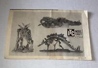 Vintage ITC Ideal Toy instruction sheet ONLY Stegosaurus Dinosaur Model Free Shp