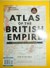 ATLAS OF THE BRITISH EMPIRE national geographic 16 MAPS history largest realm