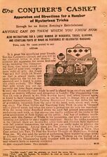 1927 small Print Ad The Conjurer's Casket of Mysterious Magic Tricks & Illusions