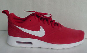 Nike Men's Shoe Red Air Max Tavas Lifestyle 802611-601 Suede Sz 10.5 13 NoLid