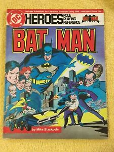 Batman ~ DC Heroes ~ Michael. Stackpole  ~ Playing Reference ~ 1989 ~ PB G