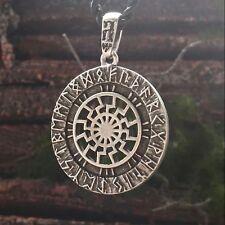 Black Sun Norse Viking Rune Slavic Pendant Necklace