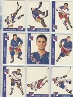 1956-57 PARKHURST REPRINTS NEW YORK RANGERS   12 DIFFERENTS CARDS      a