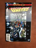 Justice League United Futures End #1 (2014) 9.4 NM DC Key Issue 3D Lenticular