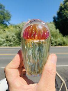 Beautiful Signed Richard Satava Hand Crafted Jellyfish Paperweight.