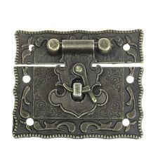 5 Sets Jewelry Box Hasp Latch Lock Hasp Bronze Pattern Carved 5.1cm x 2.9cm-9660