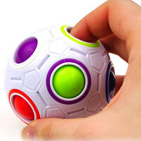 Fidget Ball Spheric Rainbow Magic Ball Cube Anxiety Relief Attention Therapy Toy
