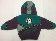 Vintage Anaheim MIGHTY DUCKS Hooded Jacket Youth SizeS 6-8 90s NHL Emilio Hockey