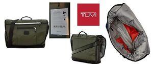 Tumi Lombard Expandable Nylon Messenger bag in Hunter Green