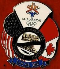 Rare Numbered 2002 Salt Lake City ATU USA/Canada Flags Olympic Games Mark Pin