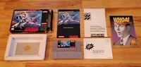 Mega Man X 1 - Super Nintendo SNES Video Game CIB Complete Box Manual lot TESTED