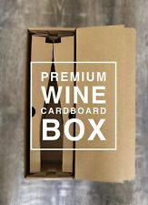 Single bottle wine parcel cardboard box - 9 pack