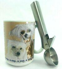 New! Chinese Crested Dog Mug Ceramic Tea Cocoa Coffee Cup 16oz + Free Gift!