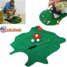 Potty Putter Toilet Mini Golf Game, Novelty Gag Gift, Putting Practice NEW