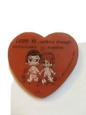 More details for ❤️love is rubber gomme eraser by kim laufer 1977 vintage rare