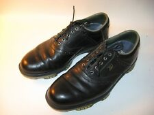 Footjoy Dryjoys Tour Men's Black Leather Saddle Golf Shoes - US 9 M