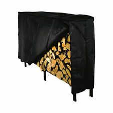 Panacea 15214 8 ft Black Vinyl Log Rack / Firewood Protective Cover