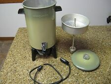Vintage Mirro-Matic 22 Cup Avocado Green Coffee Percolator Maker Pot M-9294-37