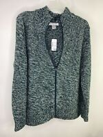 NWT Christopher & Banks Women's Jacket Green Zip Up Zipper Size XL