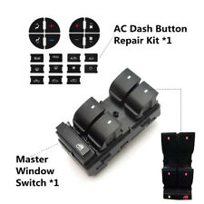 AC Dash Button Repair Kit & Master Window Switch for 2008-2015 GMC Acadia