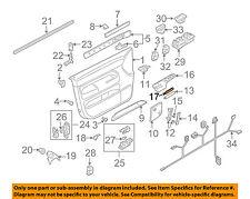 VW VOLKSWAGEN OEM 04-10 Touareg Front Door-Switch Panel Cover Left 7L6867553A6C3
