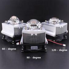 100W LED Aluminium Heat Sink Cooling Fan+60° 90° 120°44mm Lens + Reflector Brack
