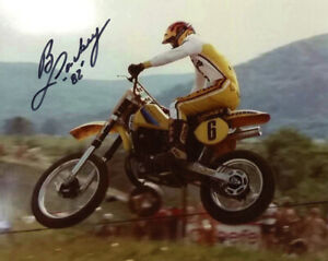 BRAD LACKEY SIGNED AUTOGRAPHED 8x10 PHOTO MOTOCROSS LEGEND CHAMPION BECKETT BAS